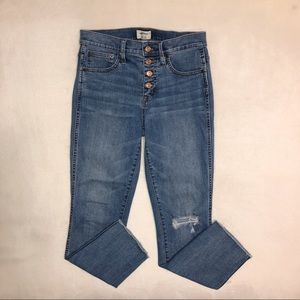 J. Crew Vintage Straight Exposed Button Fly Jeans